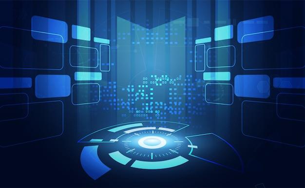 Nowoczesne abstrakcyjne technologie komunikacji koło cyfrowe