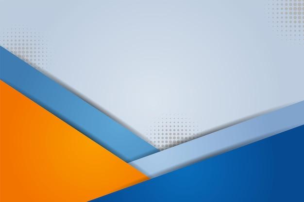 Nowoczesne abstrakcyjne tło minimalistyczne ukośne nakładające się kolorowe niebieskie i pomarańczowe