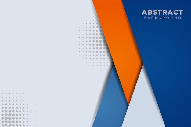 Nowoczesne abstrakcyjne tło minimalistyczne ukośne nakładające się na siebie niebieskie i pomarańczowe