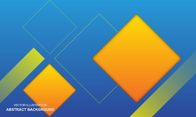 Nowoczesne abstrakcyjne tło w kolorze niebieskim i żółtym