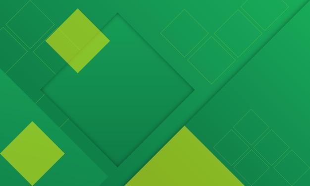Nowoczesne abstrakcyjne tło w kolorze zielonym i żółtym