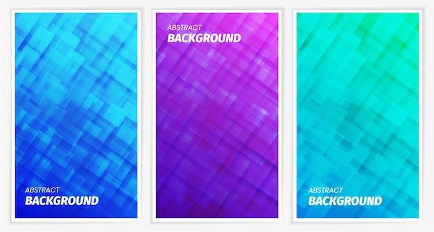 Nowoczesne abstrakcyjne tło w niebiesko-fioletowo-zielonych odcieniach
