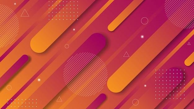 Nowoczesne abstrakcyjne tło z gradientowymi kolorami za pomocą ukośnych elementów w stylu papercut.