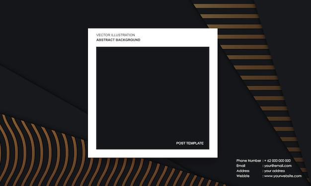 Nowoczesne abstrakcyjne tło z koncepcją luksusowego koloru szablonu post