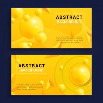 Nowoczesne abstrakcyjne tło z żółtym kolorem