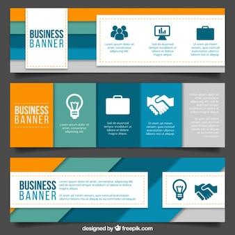 Nowoczesne banery biznesu z paskami