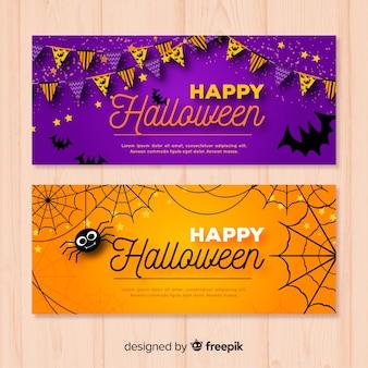 Nowoczesne banery halloween