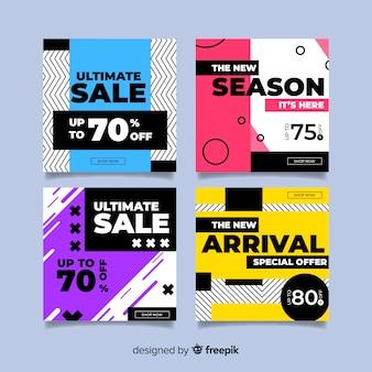 Nowoczesne banery sprzedażowe dla mediów społecznościowych