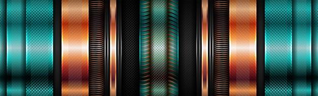 Nowoczesne błyszczące zielone geometryczne ze złotym nakładającym się teksturowanym tłem warstwy
