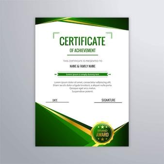 Nowoczesne certyfikatów tle
