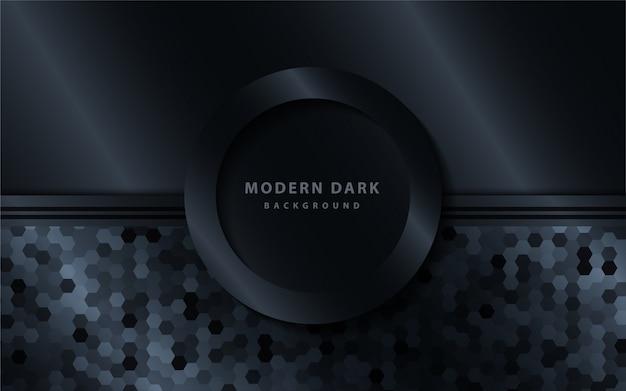 Nowoczesne ciemne tło warstwy nakładki z ciemną teksturą.