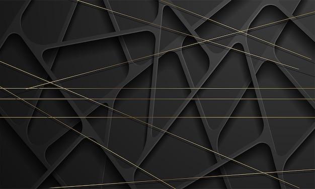 Nowoczesne czarne abstrakcyjne tło geometryczne