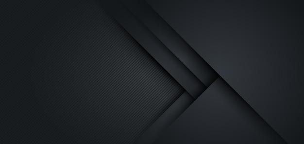 Nowoczesne czarne tło geometryczny kształt z teksturą ukośnej linii.