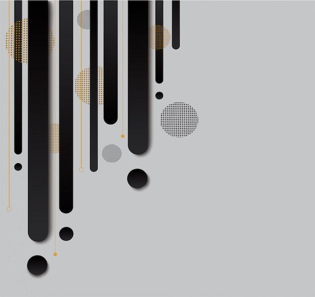 Nowoczesne czarno-białe tło gradientowe modne