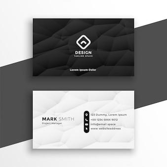 Nowoczesne czarno-białe wizytówki szablon