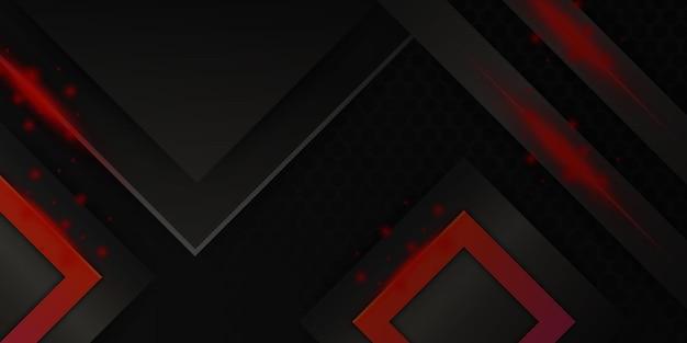 Nowoczesne czerwone czarne 3d abstrakcyjne tło