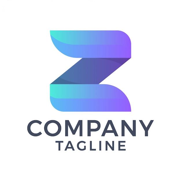 Nowoczesne, czyste, proste, pogrubione litery z 3d logo gradientu