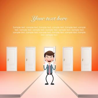 Nowoczesne drzwi czyste bramy biznesu