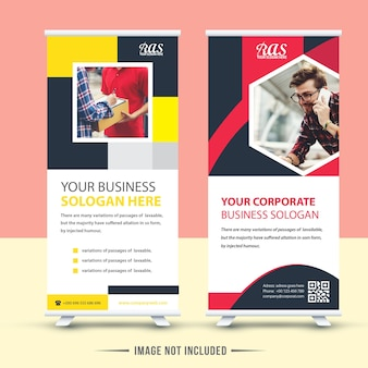 Nowoczesne dwa business roll up design