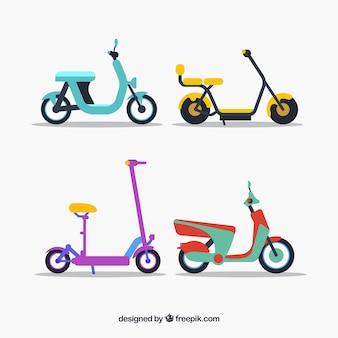 Nowoczesne elektryczne skutery kolorowe styl