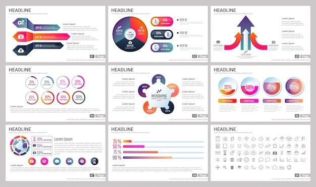 Nowoczesne elementy infografiki do szablonów prezentacji