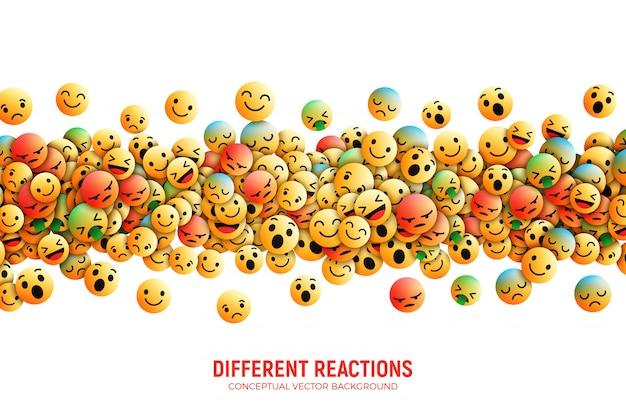 Nowoczesne facebook emoji abstrakcyjne tło