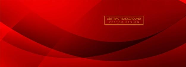 Nowoczesne fala transparent czerwone tło