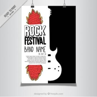 Nowoczesne festiwal rockowy plakat