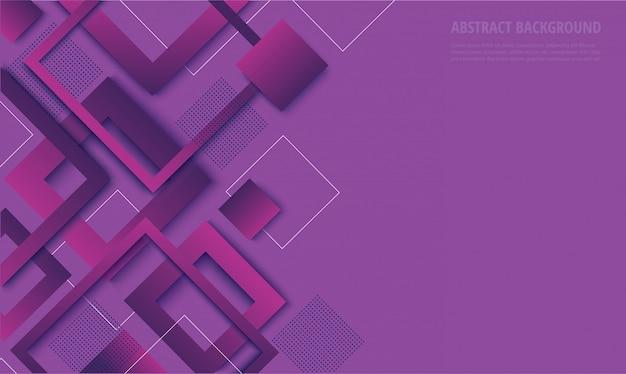 Nowoczesne fioletowe kwadratowe modne tło gradientowe