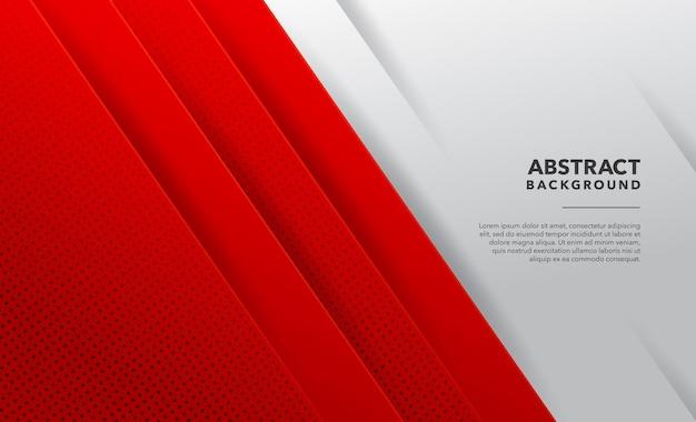 Nowoczesne geometryczne abstrakcyjne czerwone białe tło