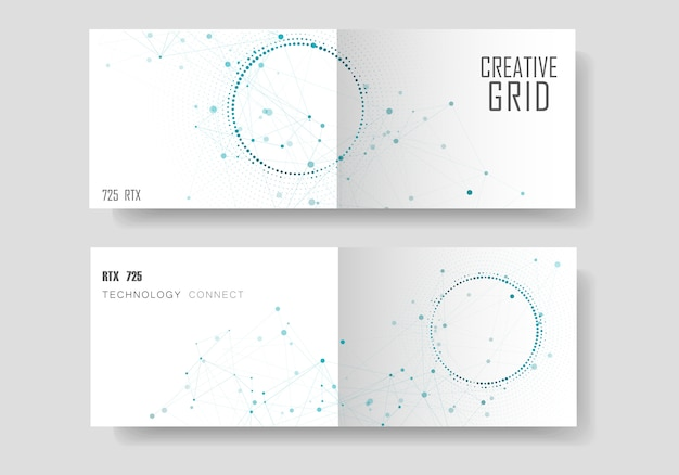 Nowoczesne geometryczne tło z połączonych linii i kropek. broszura biznesowa, naukowa, medyczna i technologiczna