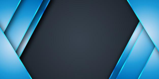Nowoczesne gradientowe niebieskie tło szablonu