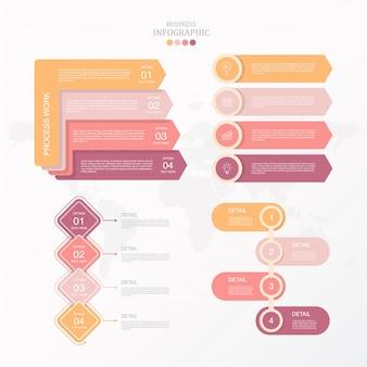 Nowoczesne i standardowe koła infografiki zestaw do obecnej koncepcji biznesowej.