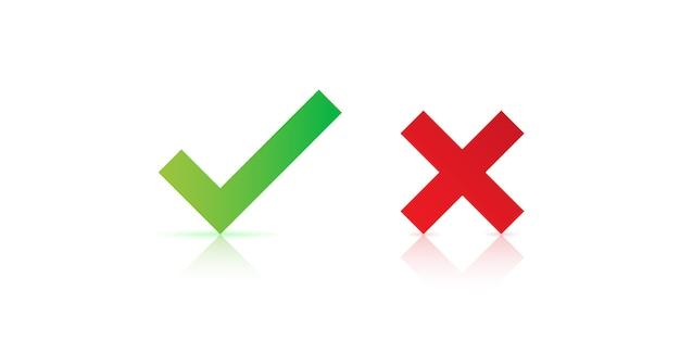 Nowoczesne ikony znacznika wyboru na białym