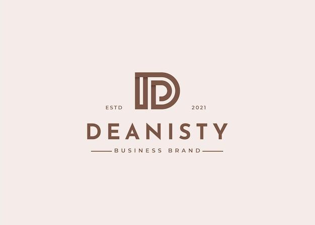 Nowoczesne ilustracje szablonu projektu logo litery d