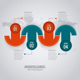 Nowoczesne infografika tle