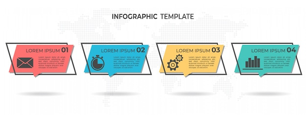 Nowoczesne infografiki 4 opcje.
