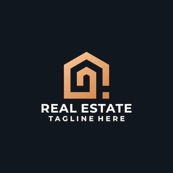 Nowoczesne inspirujące logo budynku nieruchomości