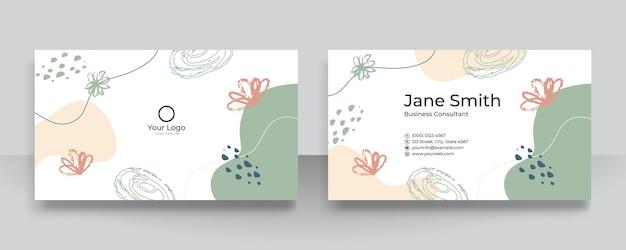 Nowoczesne kolaże wektorowe z ręcznie rysowanymi organicznymi kształtami, teksturami i elementami graficznymi na wizytówki. modna współczesna czysta i prosta wizytówka