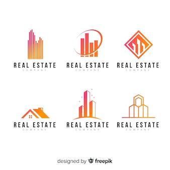 Nowoczesne kolekcjonowanie logo nieruchomości