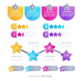 Nowoczesne kolorowe infografiki elementów