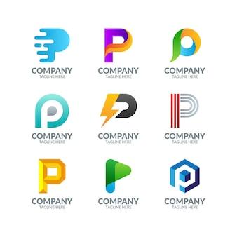 Nowoczesne kolorowe list logo design collection