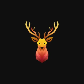 Nowoczesne kolorowe logo gradientu jelenia