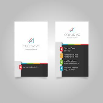 Nowoczesne kolorowe pionowe wizytówki