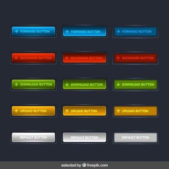 Nowoczesne kolorowe przyciski kolekcji