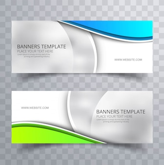 Nowoczesne kolorowe stylowe faliste banery zestaw szablonu projektu