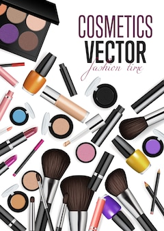 Nowoczesne kosmetyki akcesoria wektor koncepcja