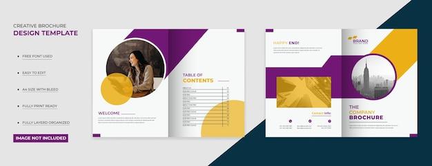 Nowoczesne kreatywne projekty okładek broszur