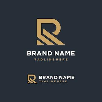 Nowoczesne litera r logo