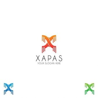 Nowoczesne litera x logo